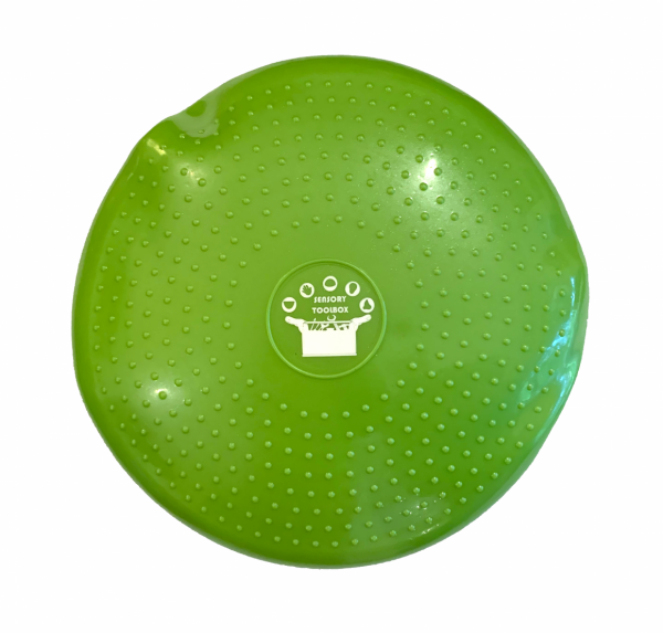 Wobble cushion to assist through vestibular sensory stimulation