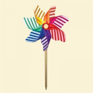rainbow pin wheel